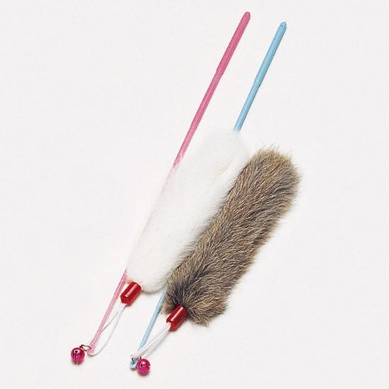 펫모닝 방울소리 토끼털 오뎅 막대 1개 색상랜덤 사진