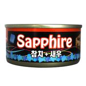 사파이어 참치&새우 캔 80g