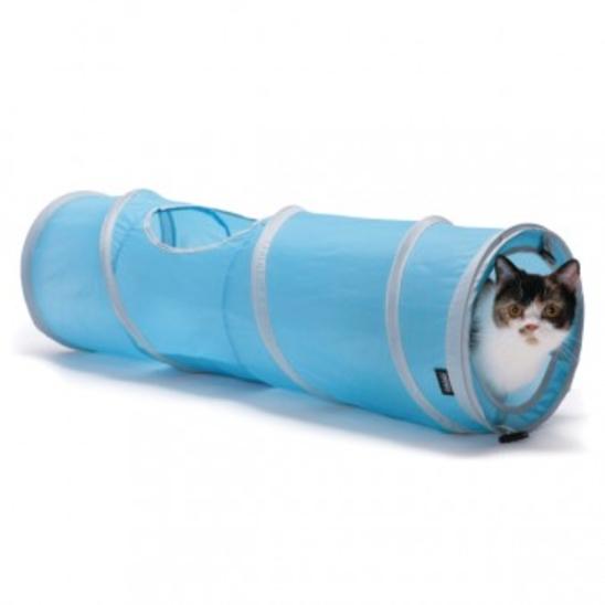 스포츠펫 캣 터널 블루 사진