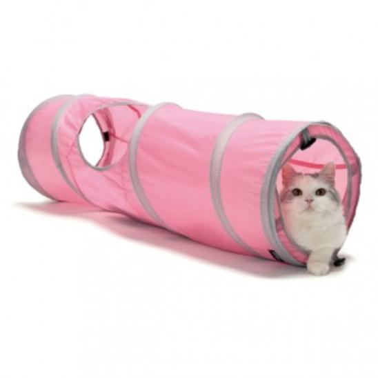 스포츠펫 캣 터널 핑크 사진