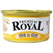 로얄 프리미엄 참치&게살 캔 85g