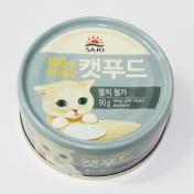 사조 로하이 캣푸드 참치&멸치 캔 90g
