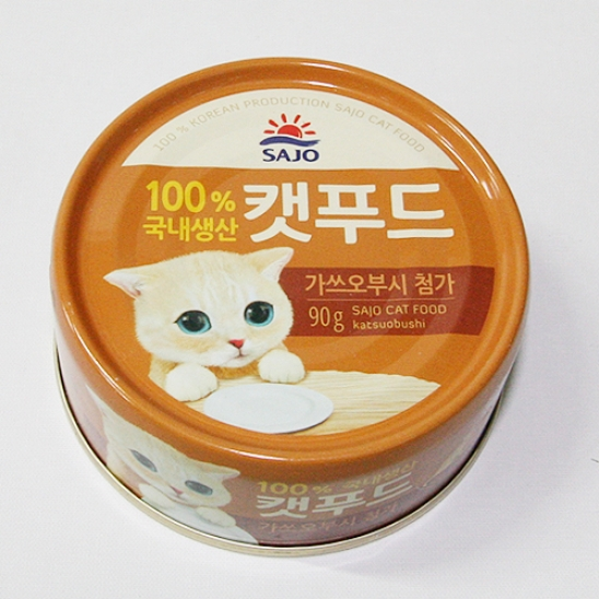 사조 로하이 캣푸드 참치&가쓰오부시 캔 90g 사진