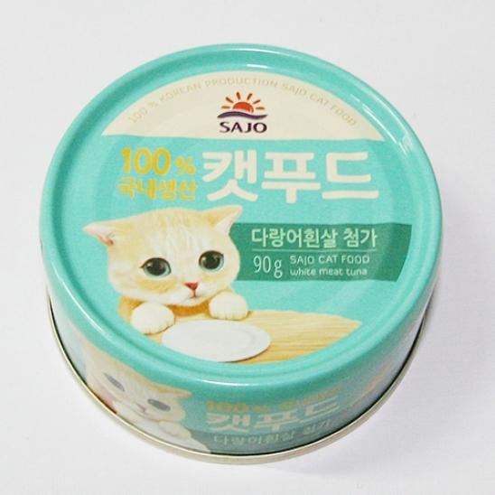 사조 로하이 캣푸드 참치&다랑어흰살 캔 90g 사진