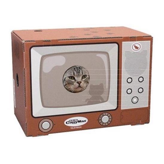캐티맨 고양이 스크래쳐 하우스 TV 사진