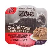[1+1] 조이 딜라이풀듀엣 고양이캔 치킨&비프청크 80g