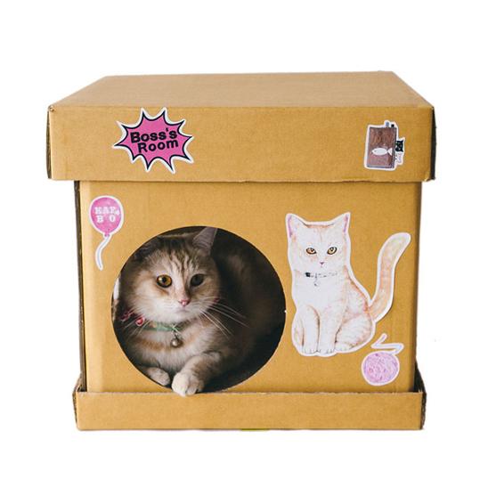 카포 큐브 스크래쳐 하우스 골드피쉬 사진
