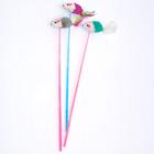 펫모닝 깃털꼬리 마우스 막대쥐 1개 색상랜덤 사진