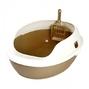 마칼 거름망 화장실 브라운