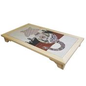 힐링타임 타일 쿨매트 탁자형 패턴 고양이 퍼플