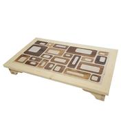 힐링타임 타일 쿨매트 탁자형 나무무늬