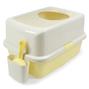 허니비 탑엔트리 화장실 옐로우 + 두부랑캣츠 모래