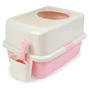 허니비 탑엔트리 화장실 핑크 + 두부랑캣츠 모래