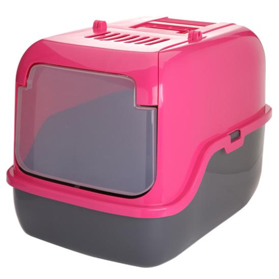 푸르미 3단접이 후드화장실 핑크 사진