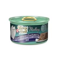 퓨리나 팬시피스트 메들리파테 플로렌틴 흰살생선&참치&치즈 캔 85g