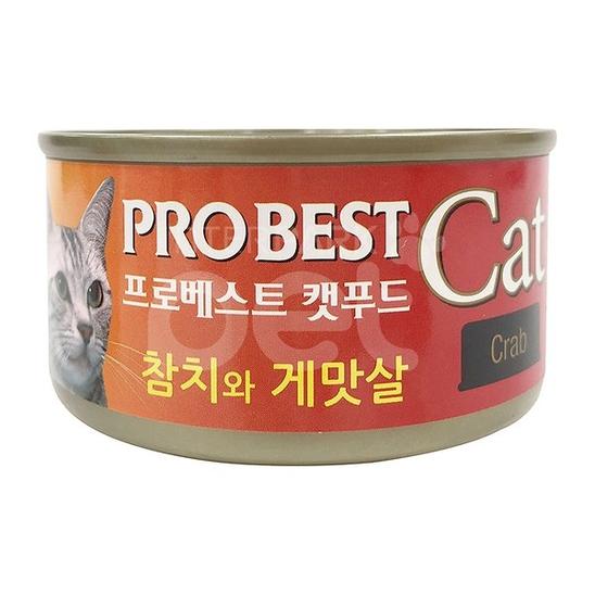 프로베스트 캣 참치&게맛살 캔 80g 사진