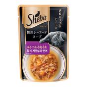 쉬바 수제수프 참치 게맛살과 연어 파우치 40g