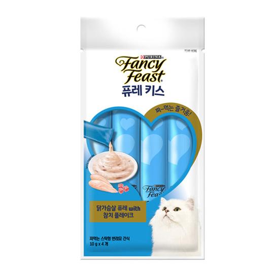 퓨리나 팬시피스트 퓨레키스 닭가슴살&참치플레이크 10g 4개입 묶음(1개) 사진