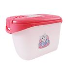 캣아이디어 럭셔리 사료통 3kg 핑크 사진