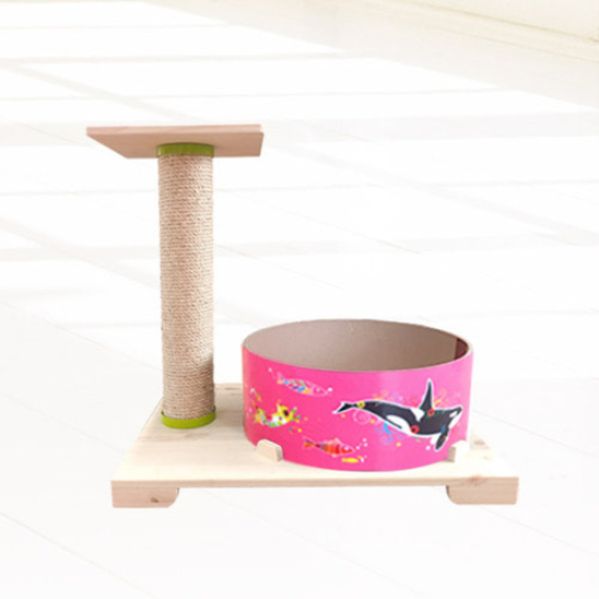 힐링타임 띵가띵가 물고기 버닝 스크래쳐 핑크 + 리필 사진