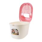 키플 탑엔트리 고양이화장실 핑크 사진