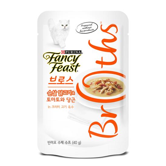 퓨리나 팬시피스트 로얄 브로스 순살 닭고기&토마토와 당근 크리미 육수 파우치 40g 사진