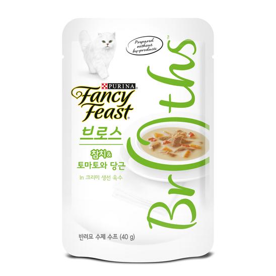 퓨리나 팬시피스트 로얄 브로스 참치&토마토와 당근 크리미 육수 파우치 40g 사진