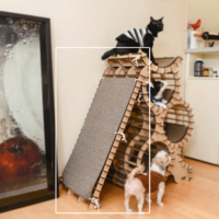 네꼬모리 키티맨션 스크래쳐보드(별도구매) -카페트 85x39cm 1매 포함
