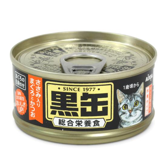 아이시아 흑관 미니 닭가슴살이 들어간 참치&가다랑어 주식캔 80g  사진