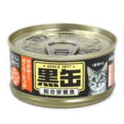아이시아 흑관 미니 닭가슴살이 들어간 참치&가다랑어 주식캔 80g