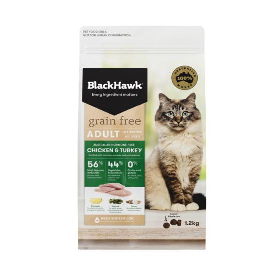 블랙호크 캣 그레인프리 닭고기&칠면조고기 1.2kg + 120g 사진
