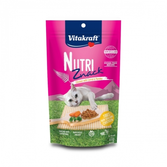 비타크래프트 뉴트리즈낵 닭고기 당근&파슬리 40g 사진