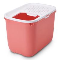 사빅 홉인 고양이 화장실 핑크