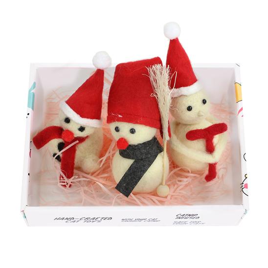 루어캣 양모볼 선물박스 스노우맨 3개입 사진