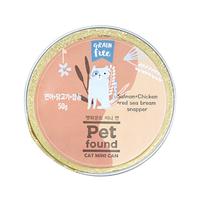 펫파운드 캣 미니 캔 연어&닭고기&참돔 50g