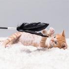 피단 고양이 깃털매직봉 장난감 화이트 사진