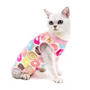 힐링타임 고양이 수술복 도넛 S